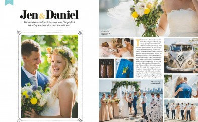 Cosmopolitan Bride Jen & Daniel